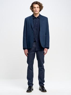 Синие однотонные брюки HEKTOR 404