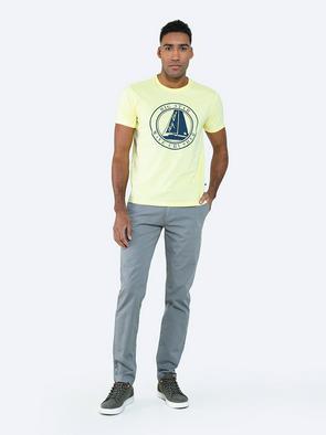 Серые однотонные брюки HEKTOR 901