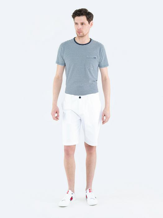 Белые хлопковые шорты ROSS 101