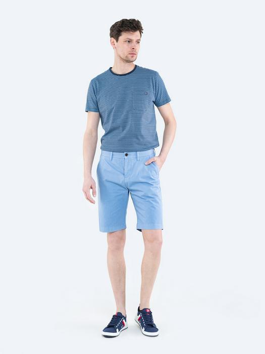Голубые тканевые шорты ROSS 400