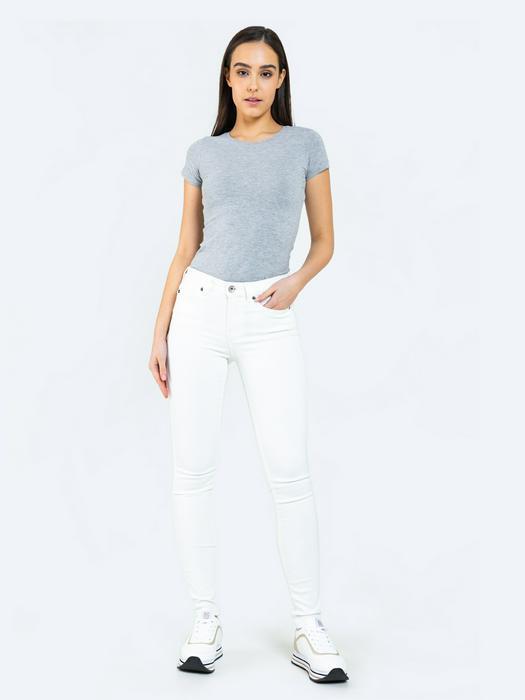 Белые джинсы с высокой талией ADELA 812