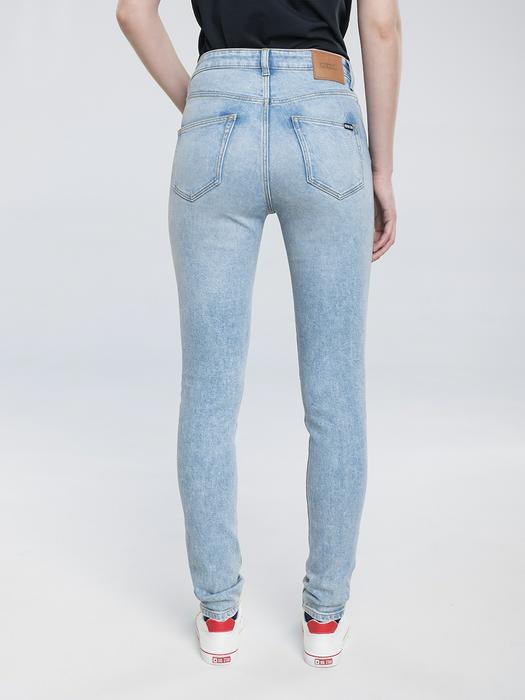 Облегающие джинсы с высокой талией CLARA 106