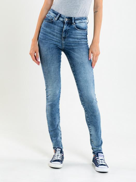 Облегающие джинсы с высокой талией CLARA 282