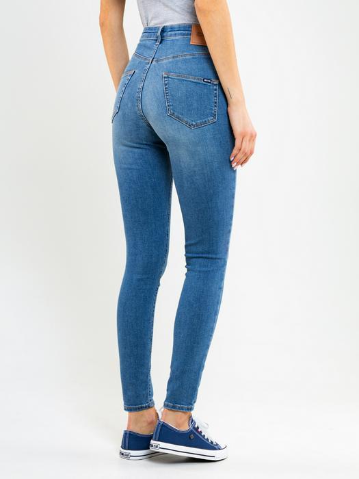 Облегающие джинсы с высокой талией CLARA 352