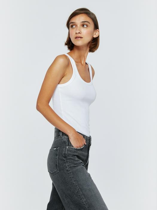 Широкие джинсы с высокой талией GERI 938