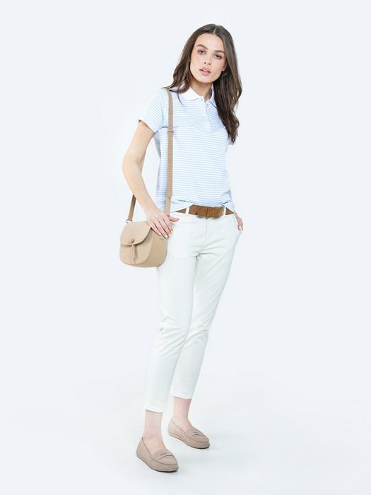 Белые брюки чиносы RIANA 100