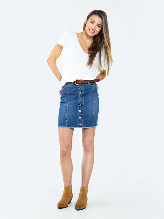 Джинсовая юбка с пуговицами ZANDRA 305
