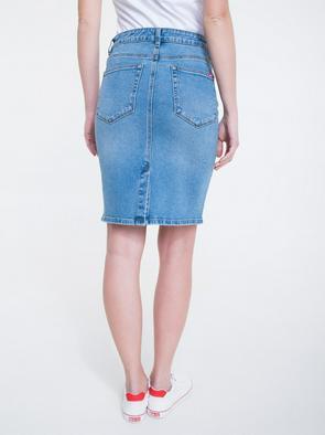 Джинсовая юбка с завышенной талией HAWEI 105