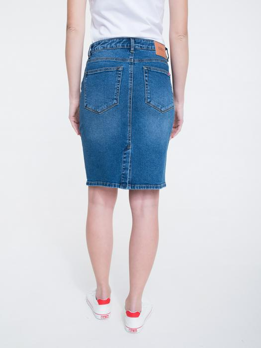 Джинсовая юбка с завышенной талией HAWEI 305