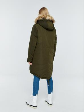 Прямое пальто с капюшоном HADLE 304