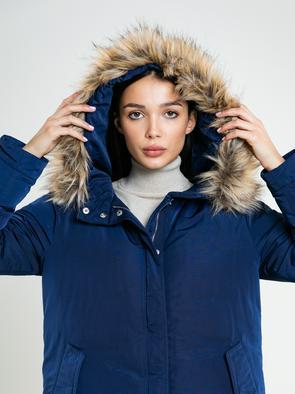 Прямое пальто с капюшоном HADLE 403