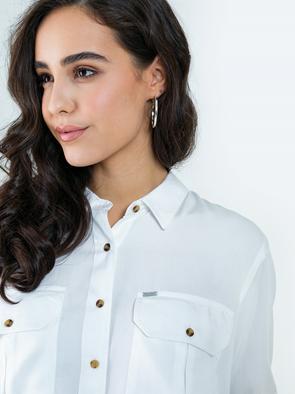 Рубашка с карманами из вискозы SEZANE 101