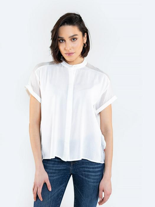 Блузка на пуговицах с прозрачными вставками FRANKIE 101