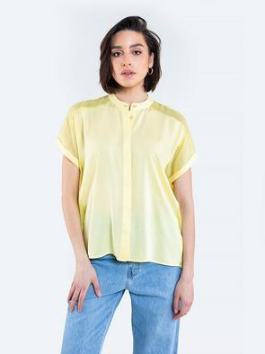Блузка на пуговицах с прозрачными вставками FRANKIE 200