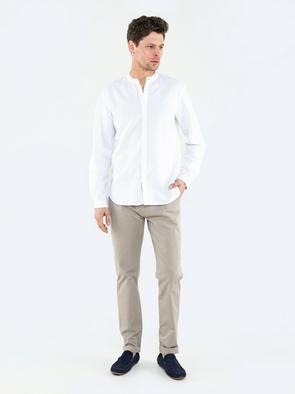 Льняная рубашка с коротким рукавом JANEJ 101