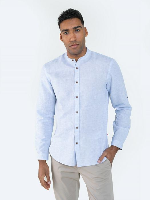 Льняная рубашка с коротким рукавом JANEJ 400