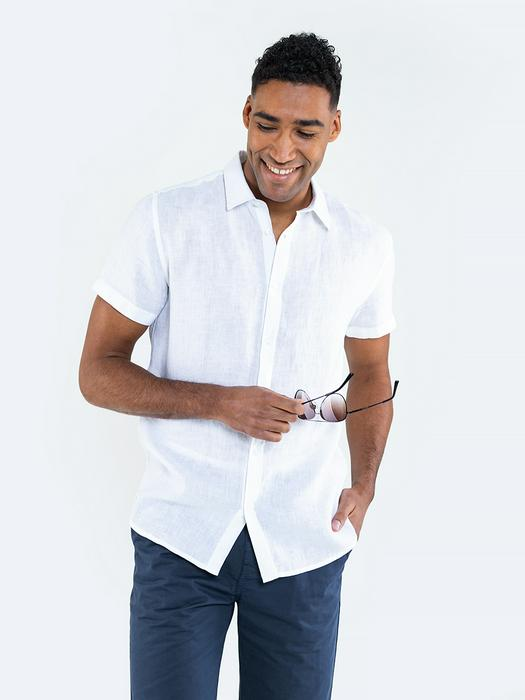 Льняная рубашка с длинным рукавом LINANO 101
