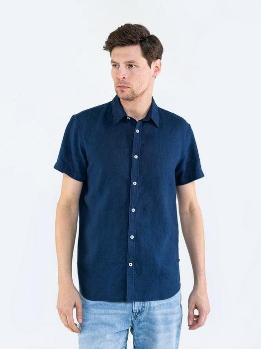 Льняная рубашка с длинным рукавом LINANO 403