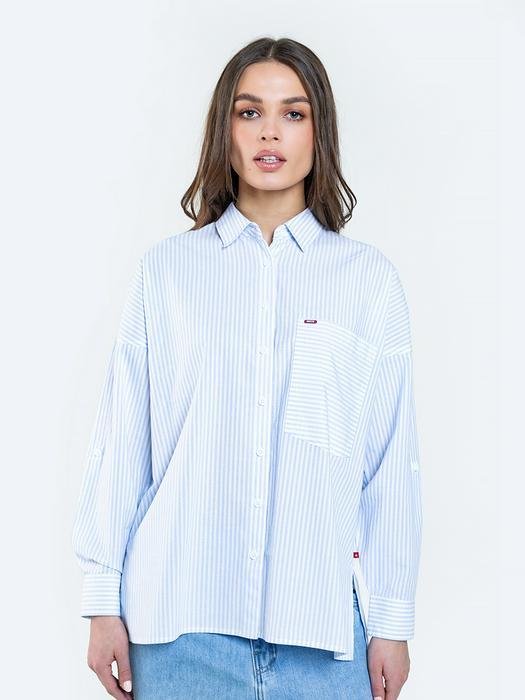 Полосатая рубашка оверсайз KONORA 401
