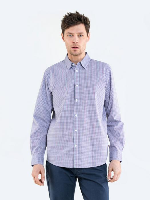 Рубашка с длинным рукавом в мелкую клетку LOTUS 403