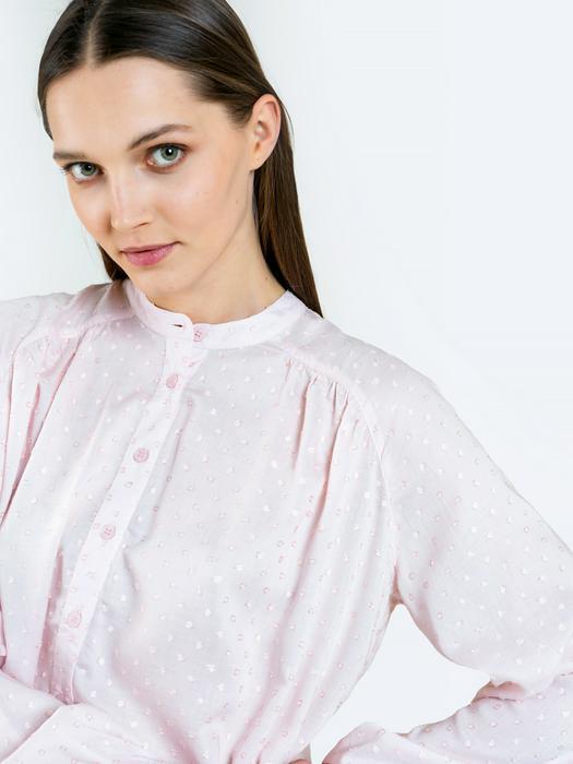Рубашка с длинным рукавом в мелкий горошек RUNONA 600