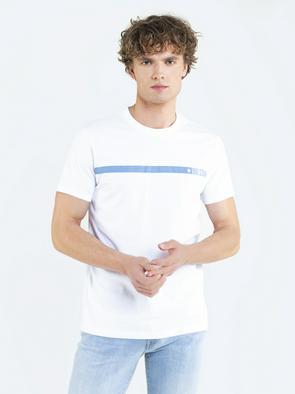 Белая футболка с логотипом PRASAG 101