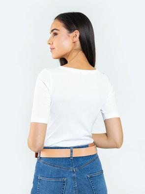 Приталенная футболка с круглым вырезом KWORINI 100