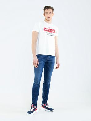 Белая мужская футболка MILLANER 100