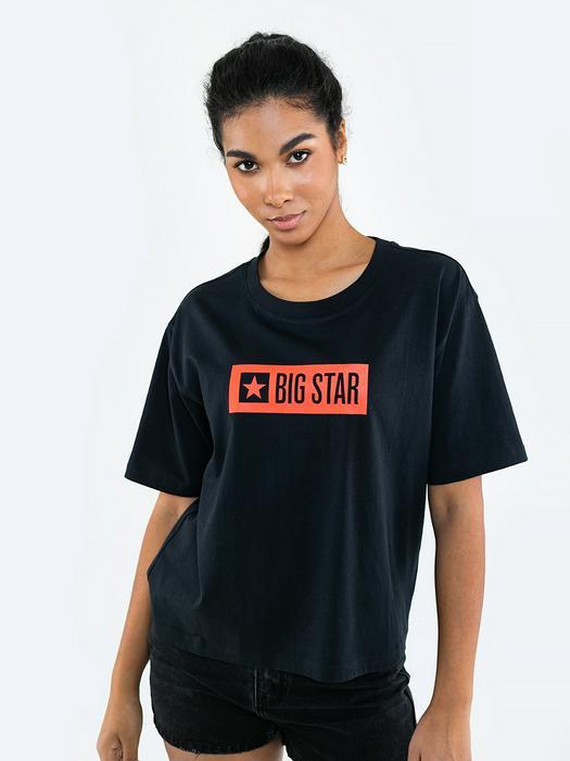 Чёрная футболка с коротким рукавом LUELLA 906