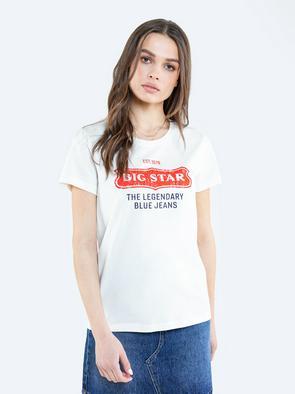 Белая футболка с принтом RISSMELNA 100