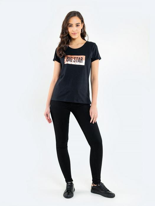 Чёрная футболка с логотипом ONEIDARA 906