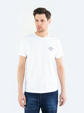 Однотонная футболка с надписью MARJORIK 101