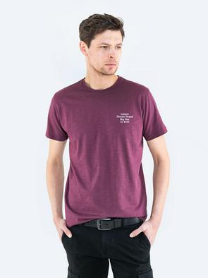 Однотонная футболка с надписью MARJORIK 604