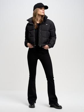 Женская чёрная футболка CLASSICA 906