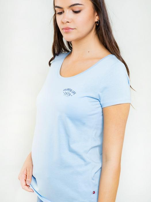 Однотонная футболка с надписью NIKA 416