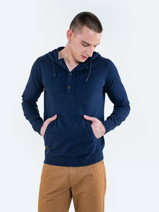 Мужской свитер с капюшоном и карманом KOLTI 403