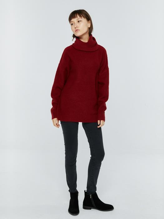 Длинный свитер с горловиной AVIANCA 603