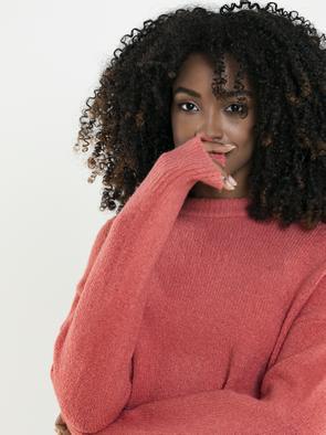Свободный свитер AWIANNA 602