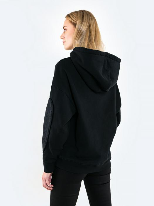Чёрное свободное худи ZARADONI 906