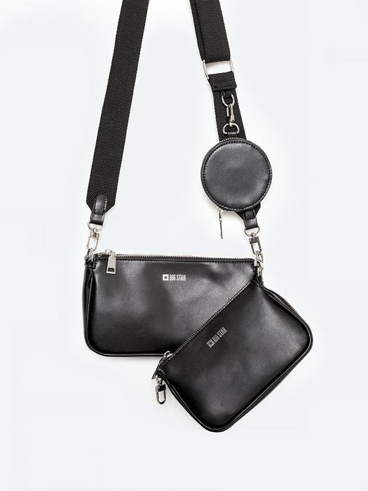 Черная сумка через плече с кошельком MILTY 906