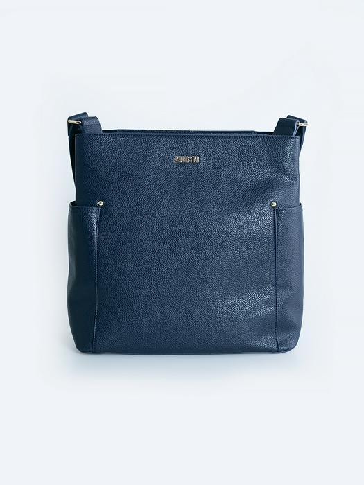 Синяя сумка через плече LARGA 403