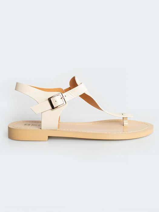Бежевые кожаные сандалии HH274703 800