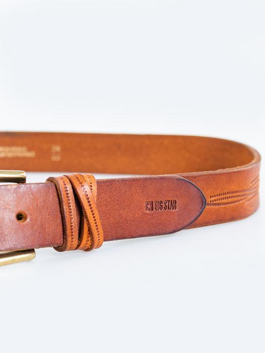 Коричневый кожаный ремень 2306 802