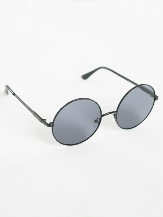 Круглые очки в металлической оправе и черными линзами Z74082 906 + чехол