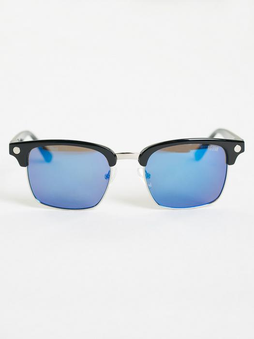 Надбровные очки в черной оправе с синими линзами Z74099 404 + чехол