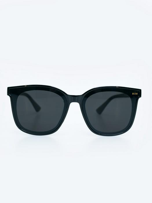 Квадратные очки-вайфареры с черной оправой и черными линзами VICTORIA 906  + чехол