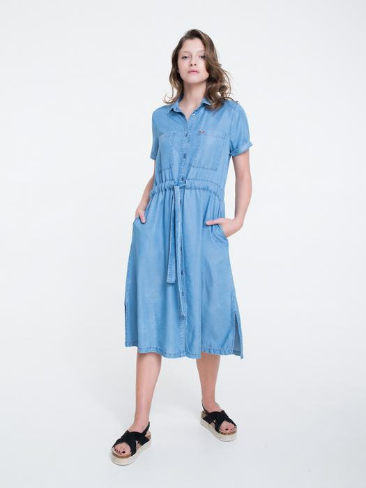 Платье рубашка миди с поясом  VIDURA 300