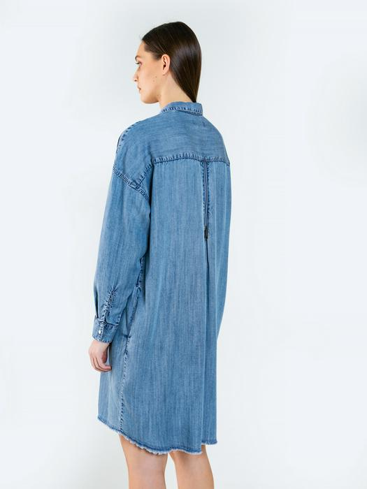 Джинсовое платье-рубашка GIZZELA 100