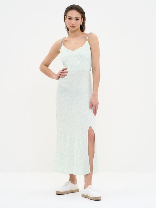 Платье с цветами с вырезом сбоку VALENTINI 300