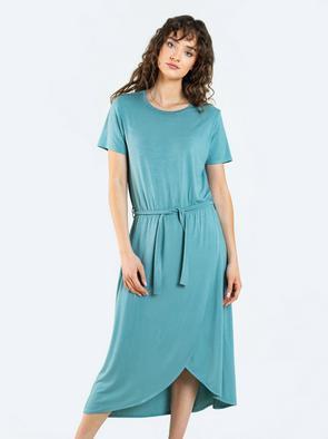Платье миди с завязкой на поясе HENRIETTA 302